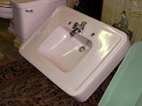 "Large Vintage Crane ""Corwith"" Console Sink in Orchid Pink with Legs"