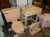 Vintage Art Deco Neuvogue Suntan Sink by Crane