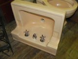 Vintage Standard Shelf Back Wall Sink in Fawn Beige