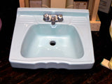 Vintage Scallop Front Blue Wall Sink by Standard