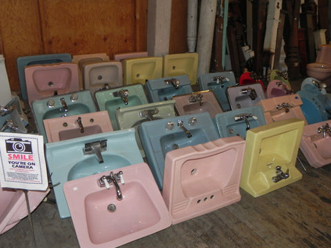 Sinks, Sinks & more Sinks...all in Retro Colors