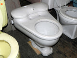 Vintage 1930's Era Case Kidney Bean White Toilets