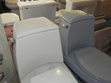 Vintage Kohler Wellington Toilets in White & Gray