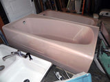 Vintage Pink Left Drain Bathtub