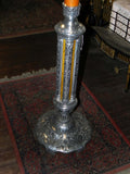 Large Vintage Ornate Candle Stick in Chrome & Bakelite