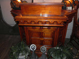 Vintage 1917 Ornate Cherry Lectern Pulpit