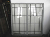 Large Vintage Arts & Crafts Styled Leaded Casement Windows