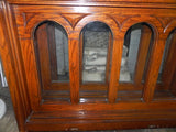 Vintage WPA Era Arched Pane Transom Window with Frame / Jamb
