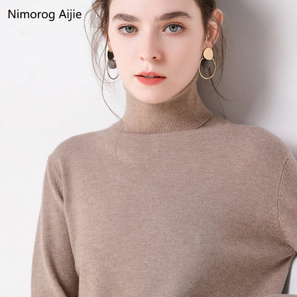 2019 Autumn Winter sweater women turtleneck cashmere sweater  knitted pullover women sweter fashion sweaters new Plus Size tops