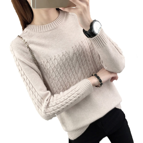 2019 Autumn Winter Knitted Sweater Women Women Sweaters And Pullovers Female Crochet Jumper Pull Femme Black White