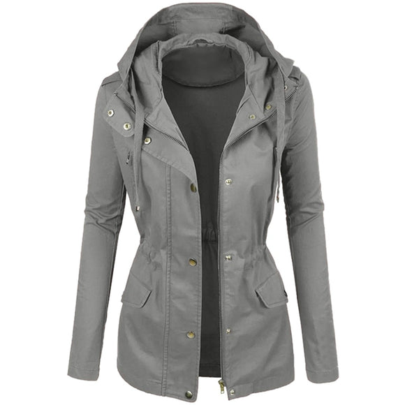Fashion Women's Winter Fashionable Plain Color Short Lapel Motorcycle Leather Blouses Hooded Coat Casual ladies Jackets Tops