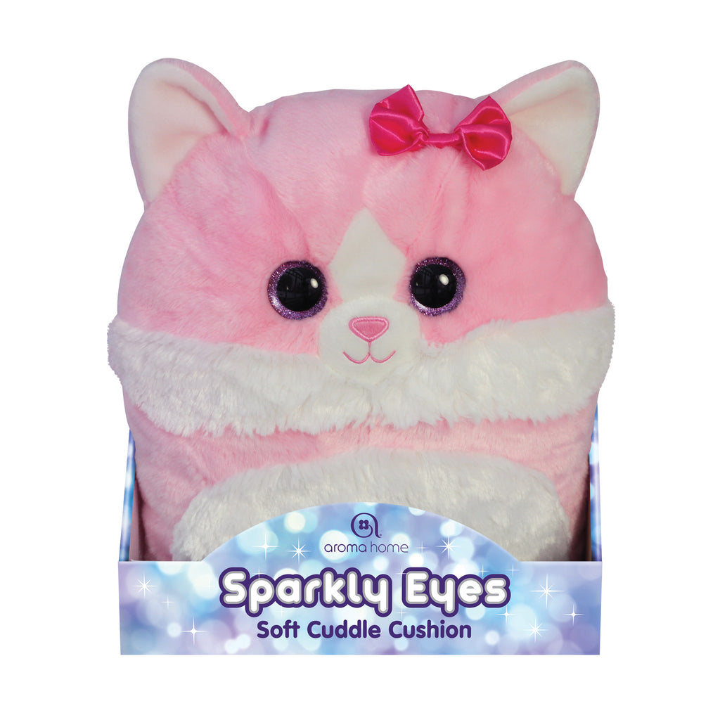 Sparkly Eyes Cuddle Cushion Cat