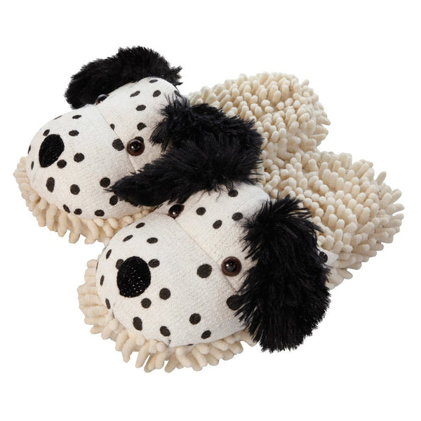 Dalmation Fuzzy Friends Slippers