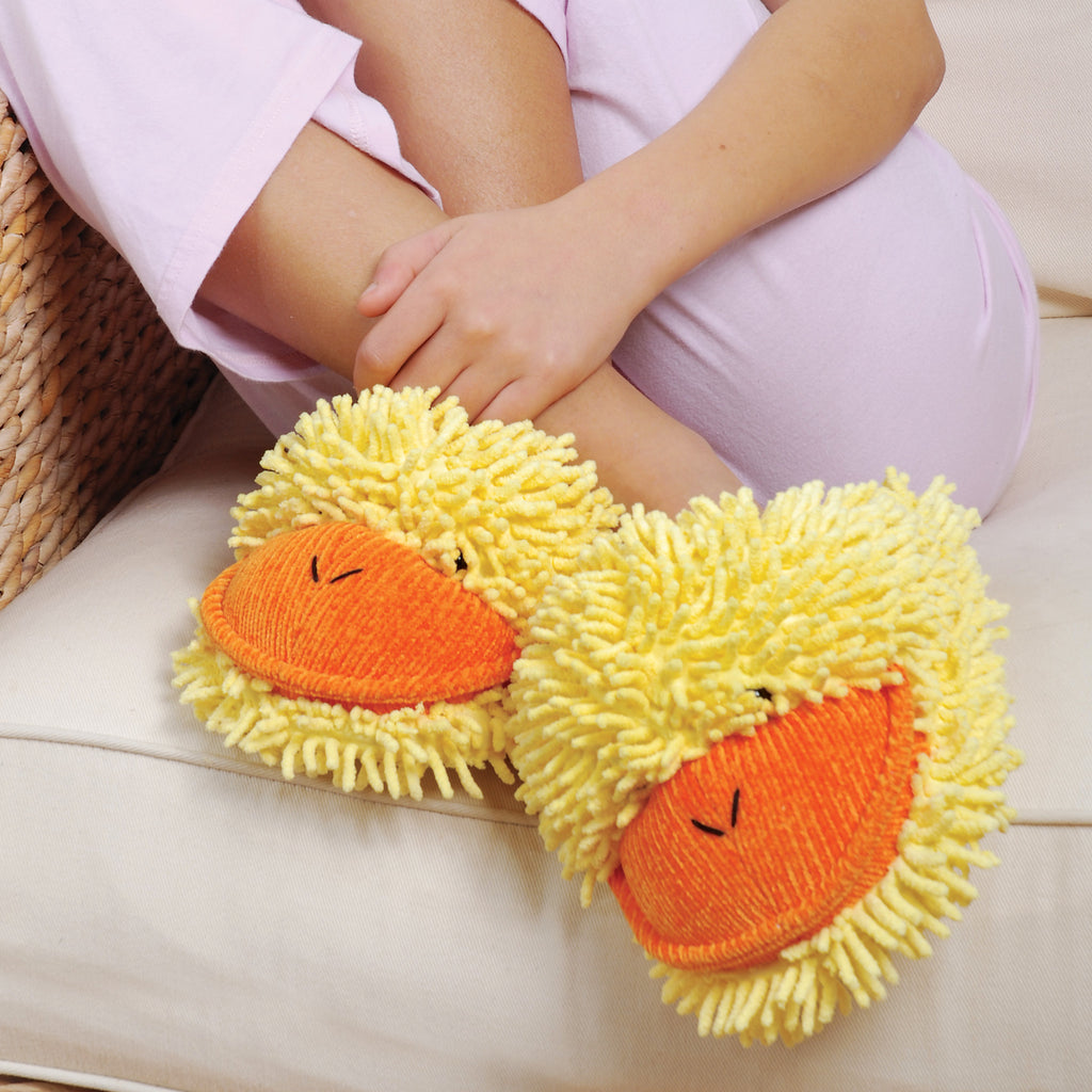 Kids Duck Fuzzy Friends Slippers