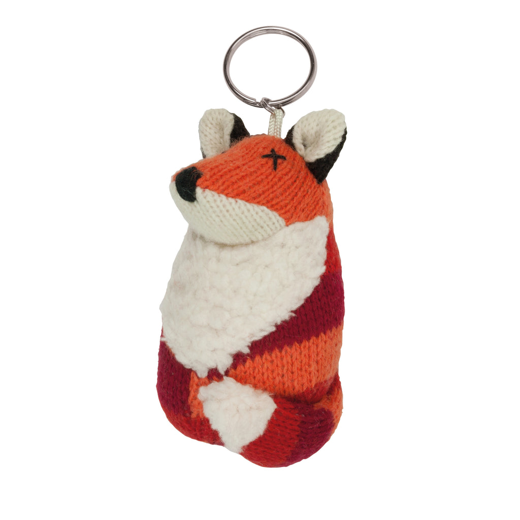 Knitted Fox Keyring
