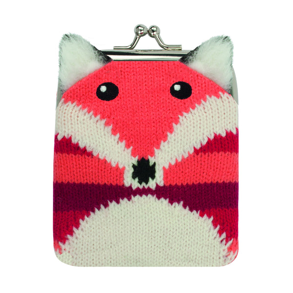 Knitted Fox Purse