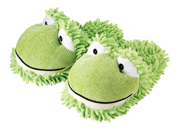 Kids Frog Fuzzy Friends Slippers