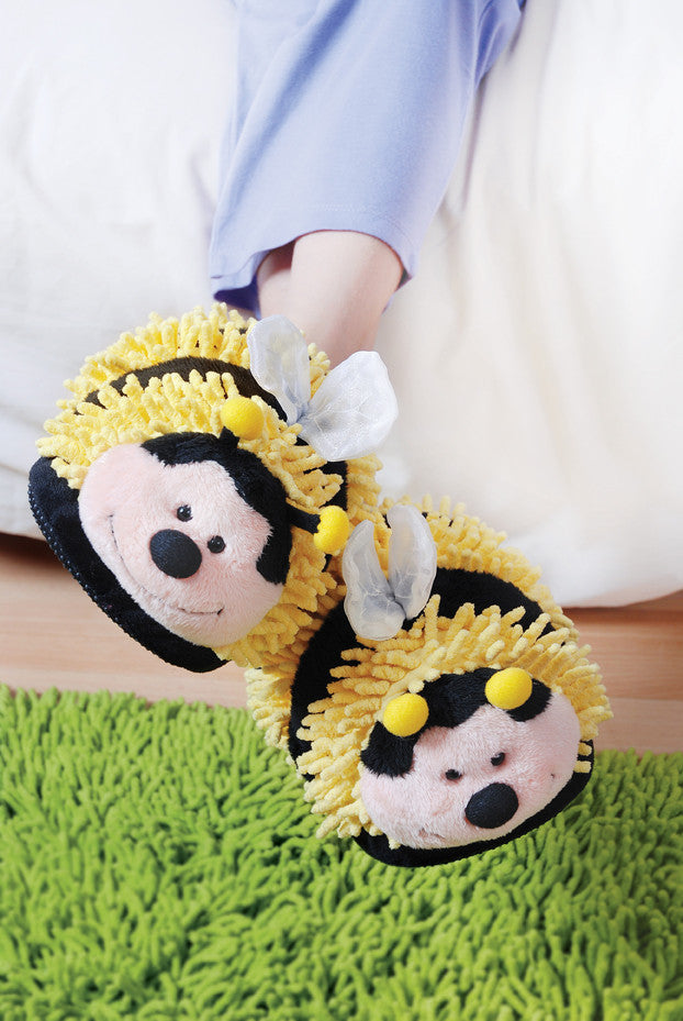 Kid's Bumble Bee Fuzzy Friends Slippers