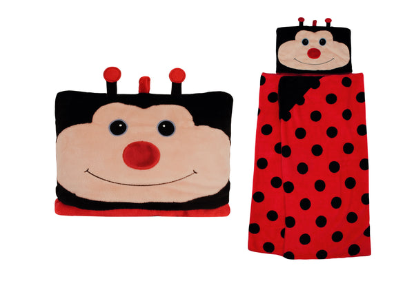 Ladybird Hooded Blanket