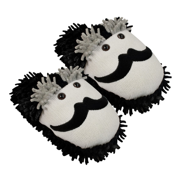 Moustache Fuzzy Friends Slippers