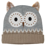 Brown Owl Heated Knitted Wooly Hat