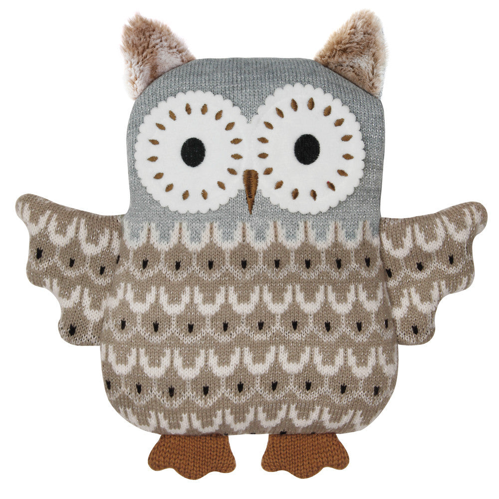 Brown Owl Knitted Microwave Hottie