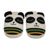 Knitted Panda Slippers