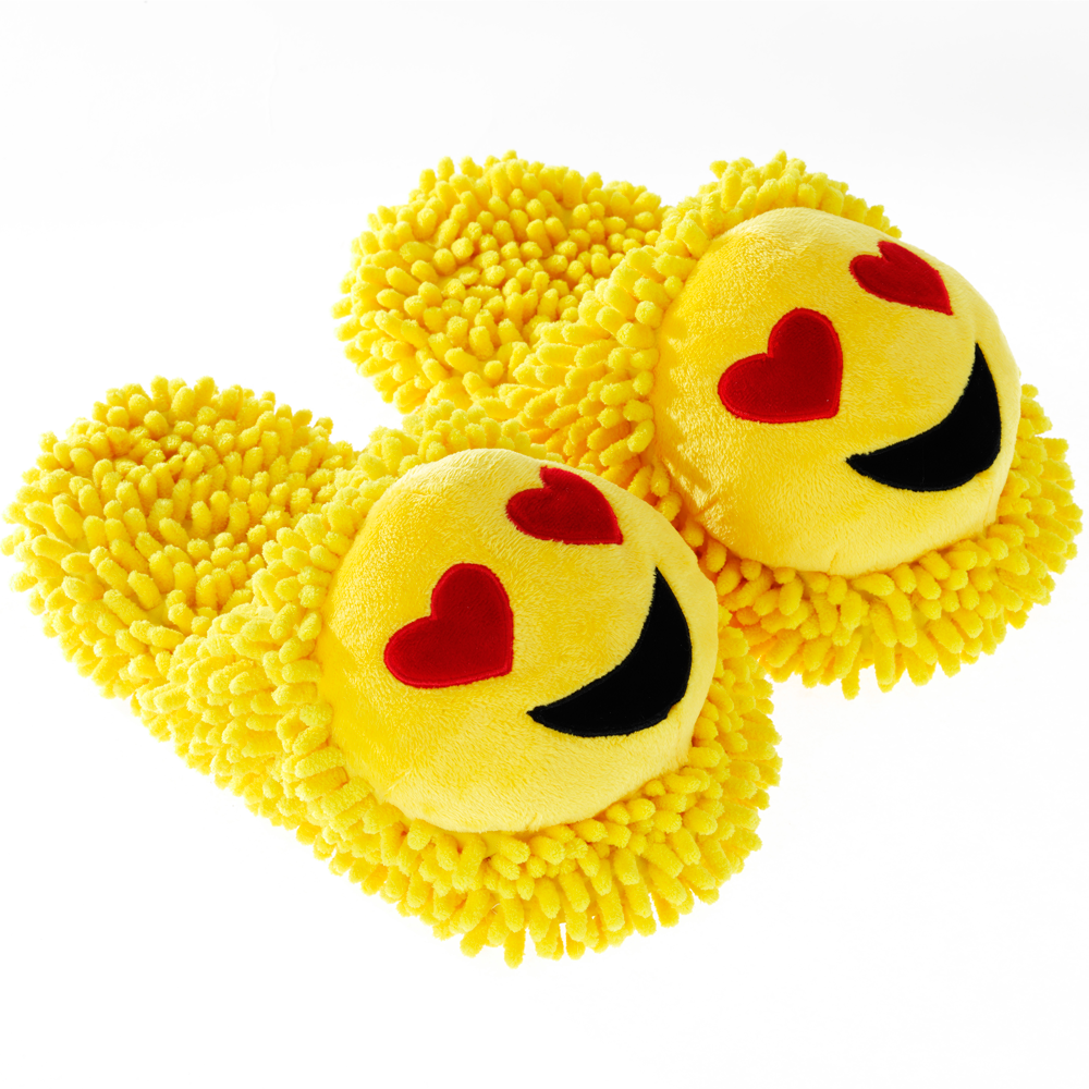 Smiley Emoji Fuzzy Friends Slippers