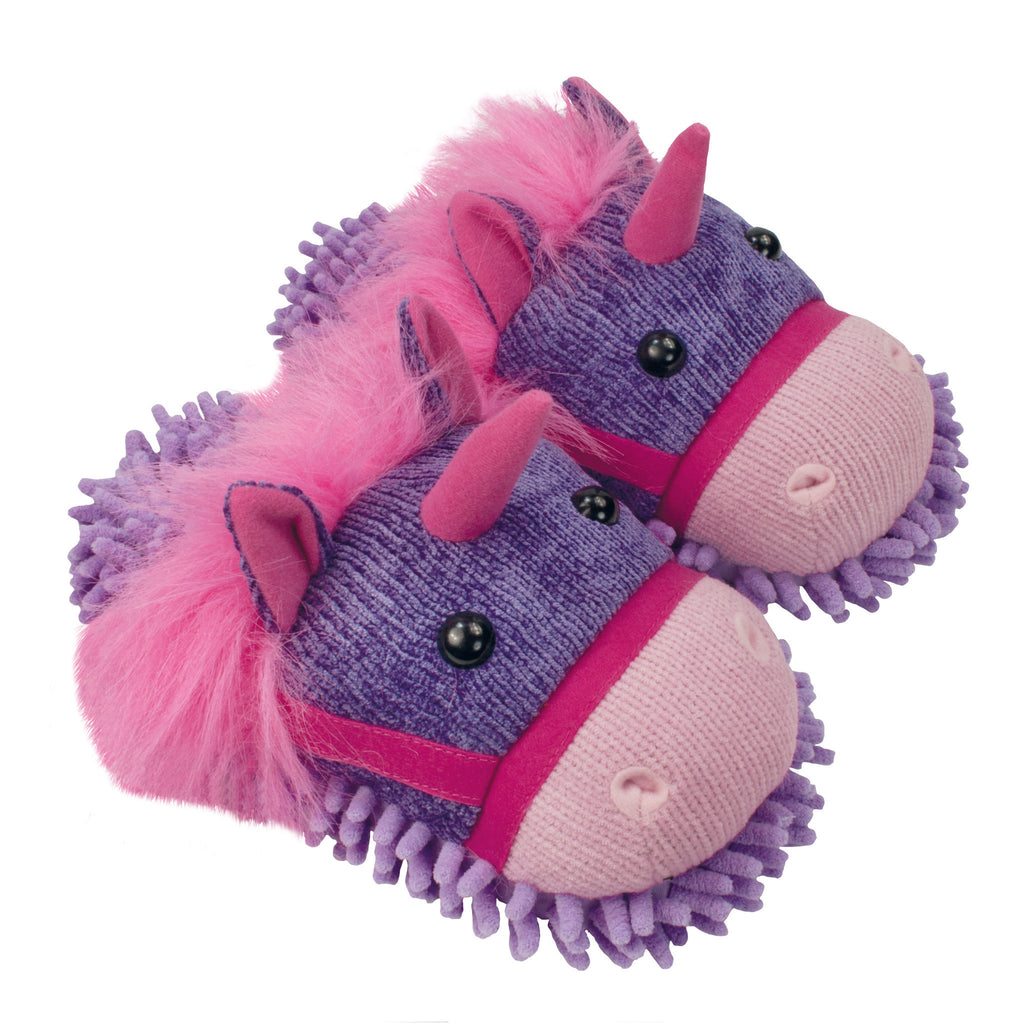 Unicorn Fuzzy Friends Slippers