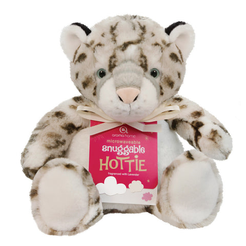 Snowy Leopard Snuggable Microwave Hottie