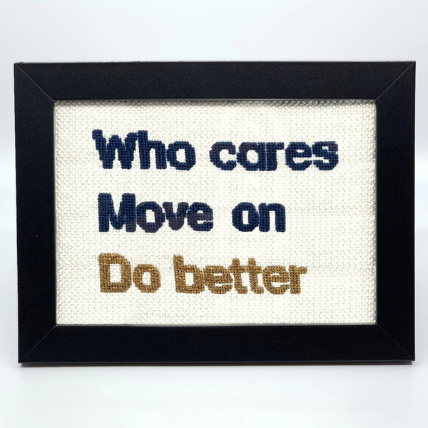 """Do Better"" Needlepoint Kit"
