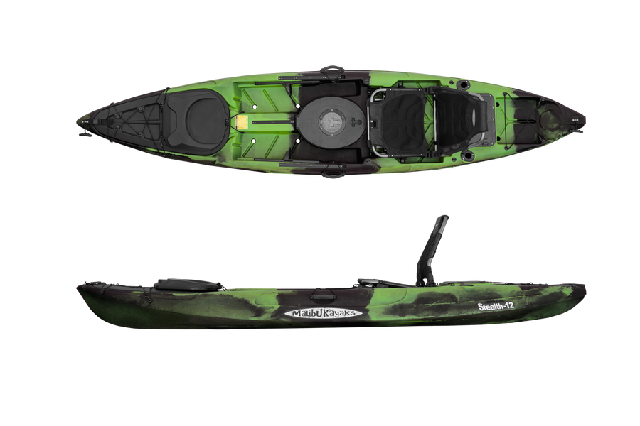 Malibu Kayaks Stealth-12 Perfectly Balanced Sit on Top Fishing Kayak