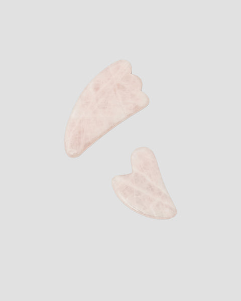 Rose Quartz Gua Sha tools in Small and large for various lymphatic facial massage | 'JENTL
