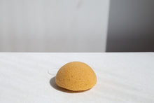 Load image into Gallery viewer, Half moon yellow Konjac Sponge 100% natural eco friendly cleansing beauty tool | 'JENTL