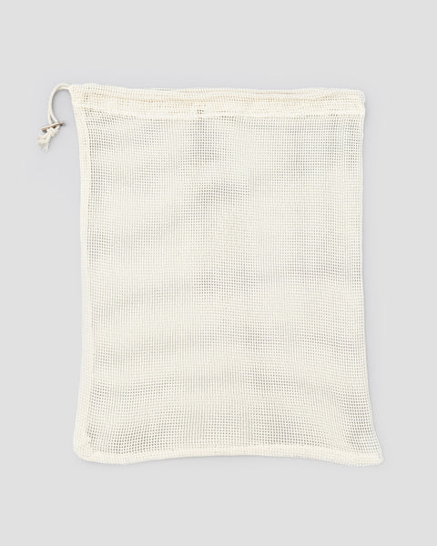 Empty flat Cotton Mesh reusable produce bag | 'JENTL