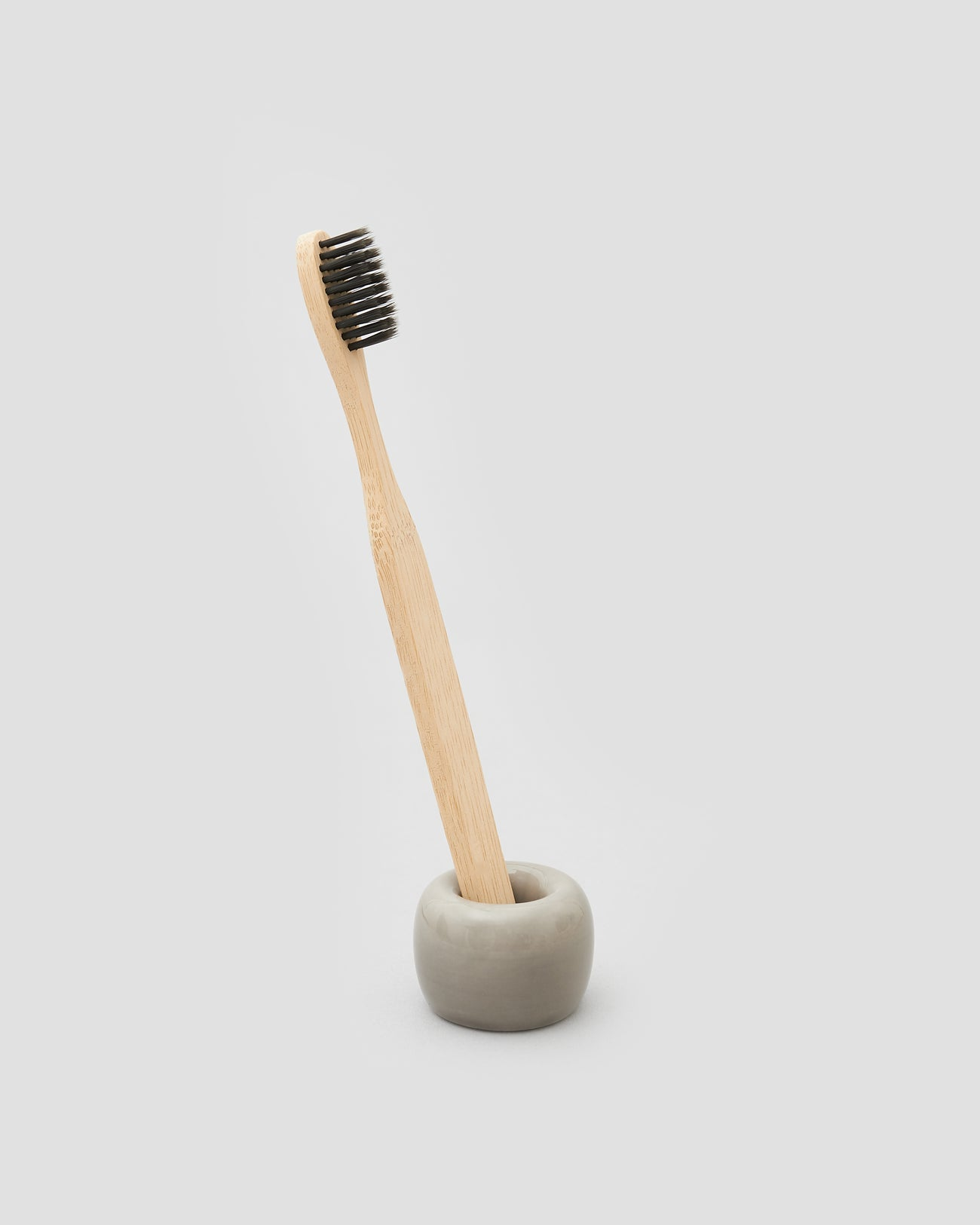 Bamboo Toothbrush with black bristles, Eco friendly toothbrush that can be composted | 'JENTL
