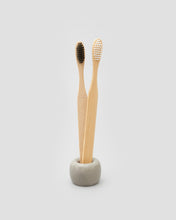 Load image into Gallery viewer, A pair of Bamboo Toothbrushes with black or white bristles, A sustainable alternative | 'JENTL