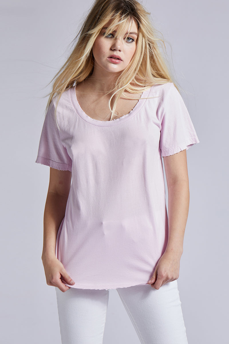 Rose Scoop Neck Tee