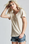 Old Lace Scoop Neck Tee