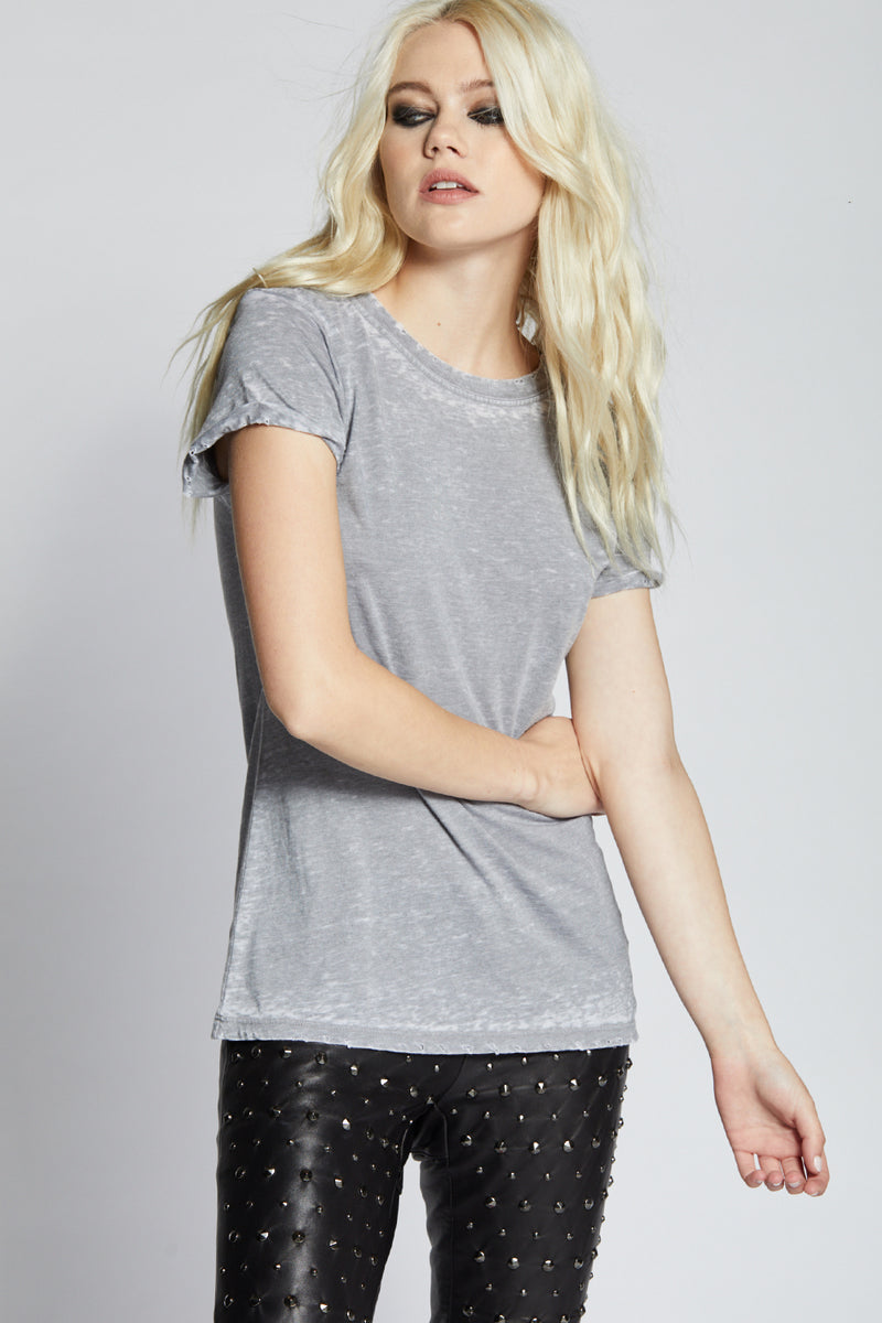 Steel Grey Distressed Tee