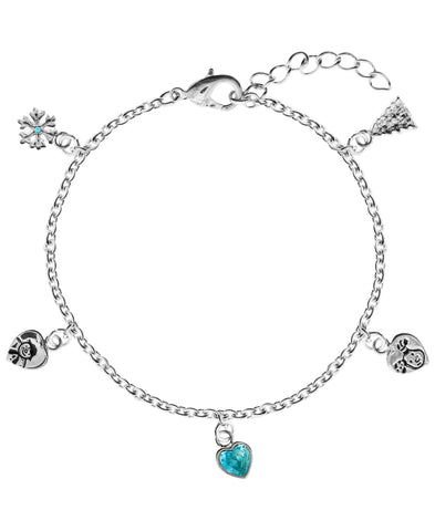 Snowman Snow and Snowdog Charm Bracelet - Rhona Sutton Jewellery