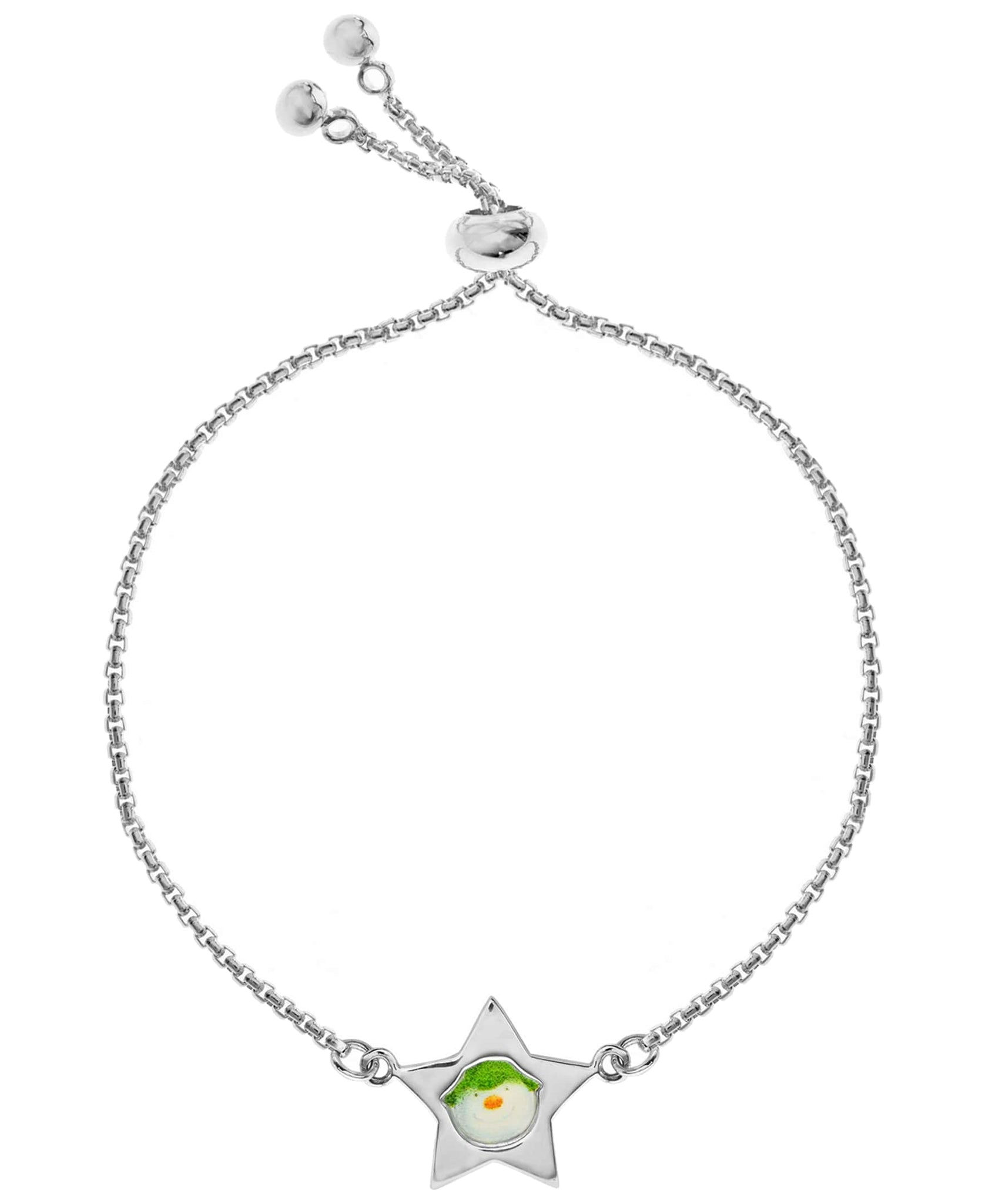 Snowman Star Charm Friendship Bracelet - Rhona Sutton Jewellery