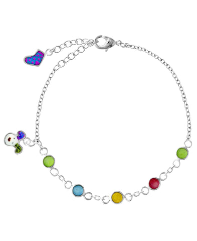 Snowdog Colorful Stones Charm Bracelet - Rhona Sutton Jewellery