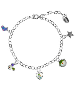 Snowman and Snowdog Picture Charm Bracelet - Rhona Sutton Jewellery