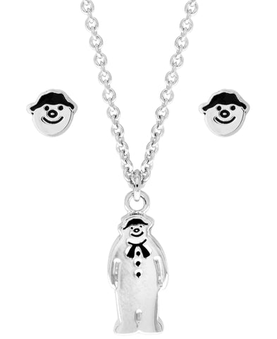 Snowman Pendant Necklace and Earring Set - Rhona Sutton Jewellery