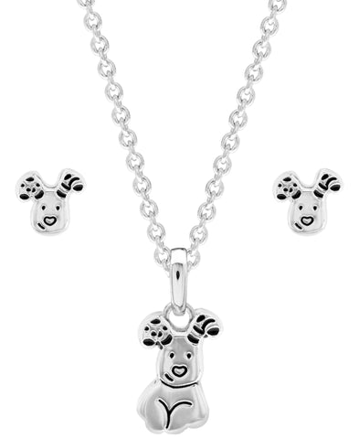 Snowdog Pendant Necklace and Earring Set - Rhona Sutton Jewellery