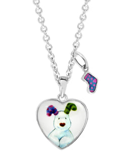 Snowdog Heart Pendant Necklace - Rhona Sutton Jewellery