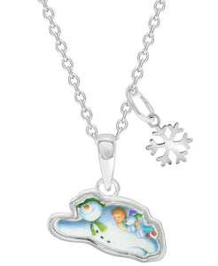 Snowman Flying Pendant Necklace - Rhona Sutton Jewellery