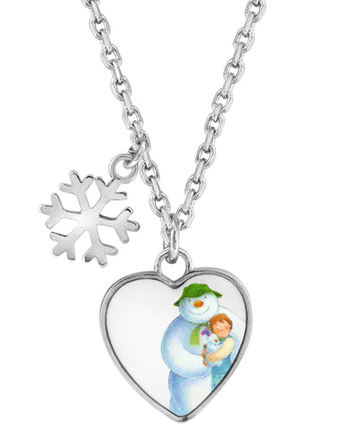 Snowman Snowflake and Heart Pendant Necklace - Rhona Sutton Jewellery