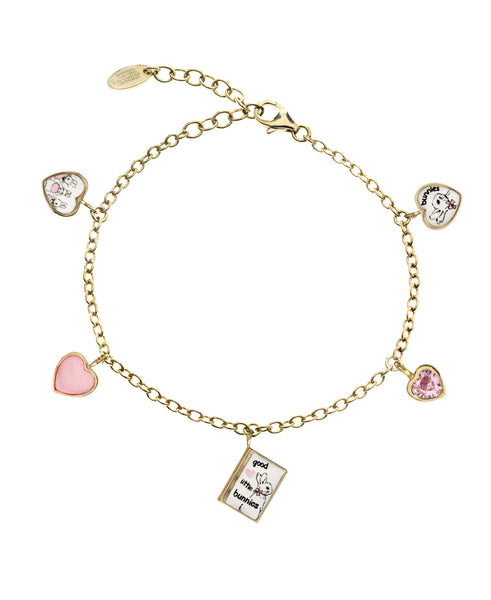 Beatrix Potter Children's Gold Story Book Charm Bracelet - Rhona Sutton Jewellery